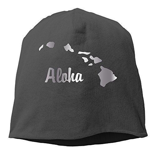Aloha Hawaiian Platinum Style Beanies Cap Black