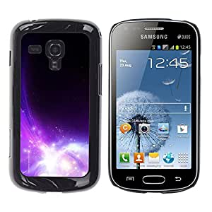 Opulencia cataclísmico De Belleza - Metal de aluminio y de plástico duro Caja del teléfono - Negro - Samsung Galaxy S Duos S7562