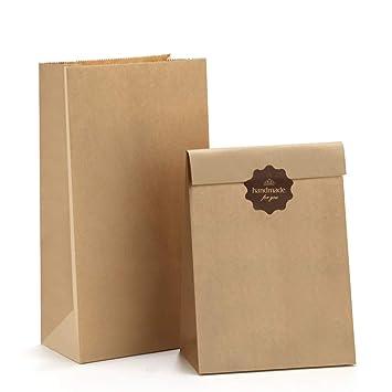 Amazon.com: BagDream #4 Bolsas de papel kraft duraderas para ...