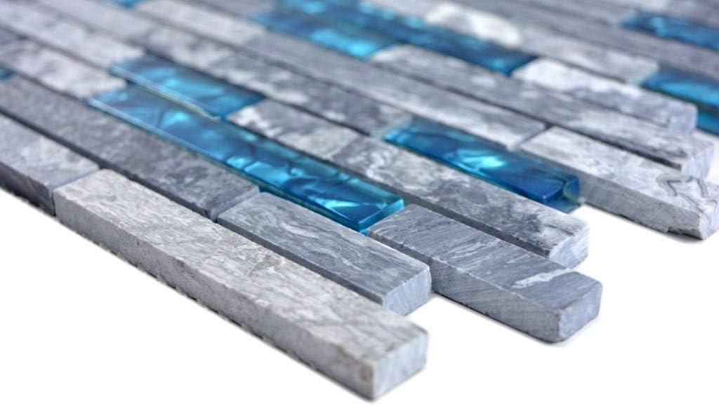 10 Mosaikmatten Mosaik Fliese grau schwarz St/äbchen Verbund Glasmosaik Crystal Stein f/ür WAND BAD DUSCHE K/ÜCHE FLIESENSPIEGEL THEKENVERKLEIDUNG BADEWANNENVERKLEIDUNG Mosaikmatte Mosaikplatte