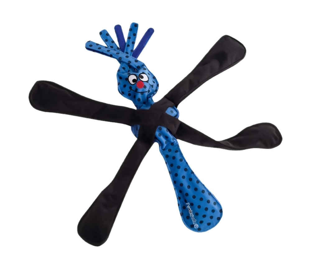 Doogles Produit Naturel - Tripull: jouet écologique pour chiens (Bleu) TYSPLG04