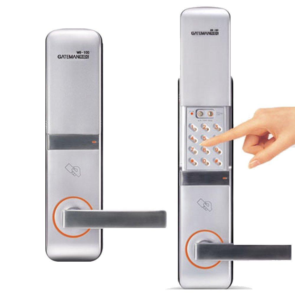 GATEMAN WS-100 デジタルドアロック,パスワード、電子キー,キーボードタイプタッチ式,AA電池(海外直送品) B01GVFUFXO