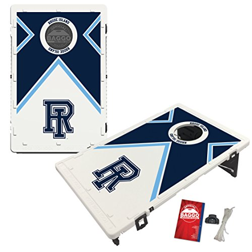 Rhode Island University of Rams Baggo Bean Bag Toss Cornhole Game Vintage Design by Victory Tailgate