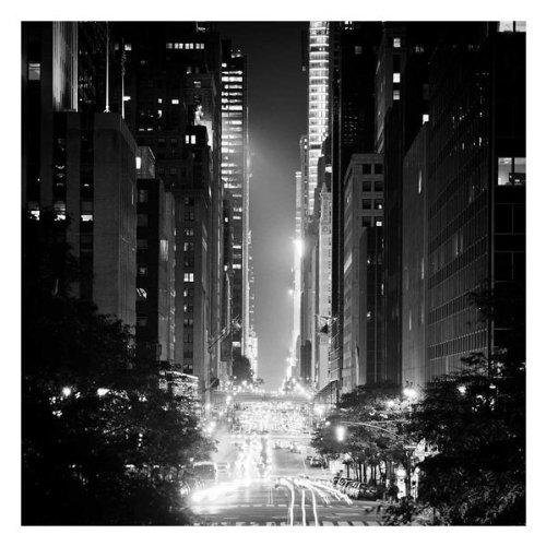 42nd Street Adam Garelick New York Photograph B&W Cityscape Print Poster - New 42nd York Street W