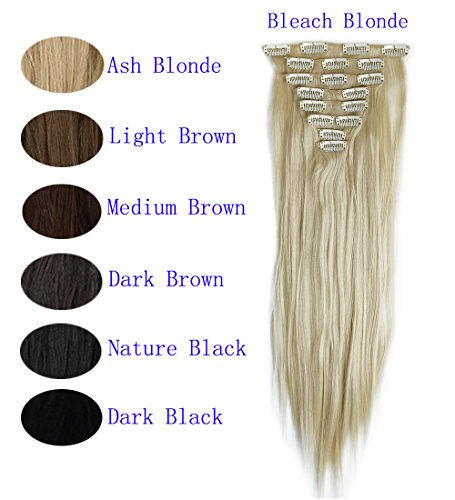 FUT Women 8pcs 18 Clips in Hair Extensions 23