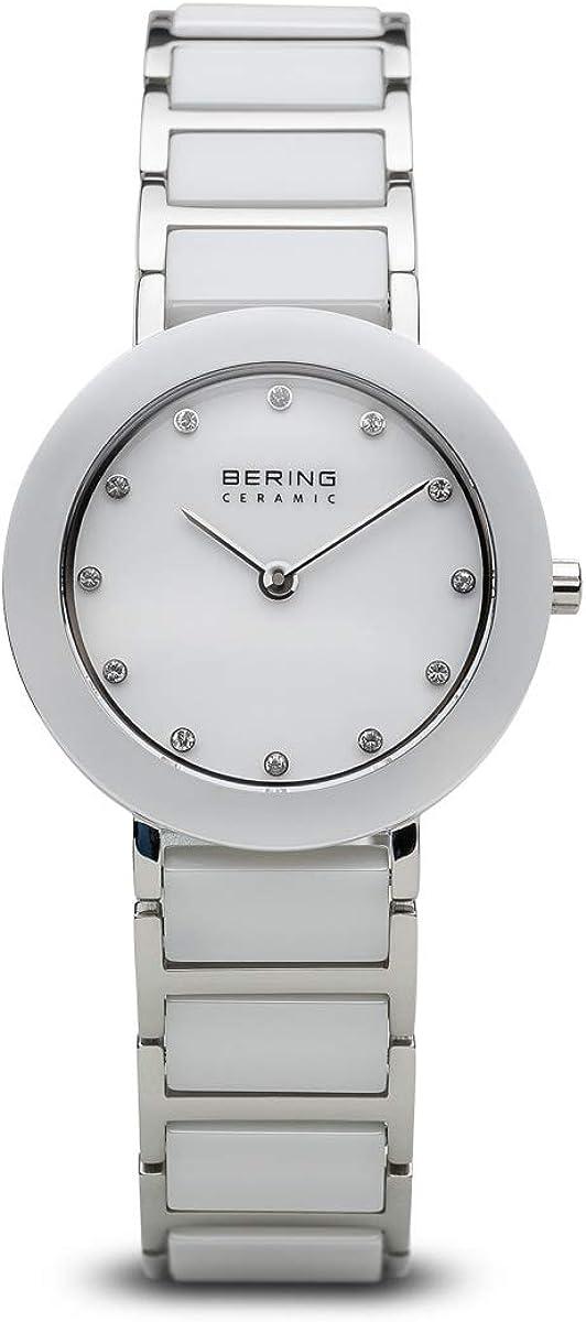 BERING Reloj Analógico para Mujer de Cuarzo con Correa en Acero Inoxidable 11429-754