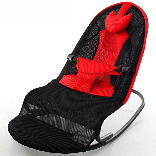 XNYY Balance Swings Chair Rocking Chair Soothing Newborn Baby Sleep Artifact Toddler Rocker Cradle Bed Entertainment (Color : Red)