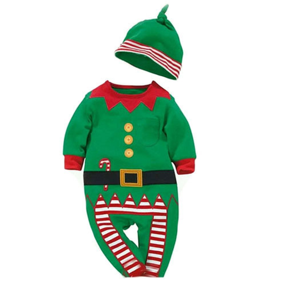 Verde 3580,tuta per altezza 27.5 Verde 3580,tuta per altezza 27.5 WELVT Elf Costume Unisex -Baby Leotard tuta Climbing Rompers Pant
