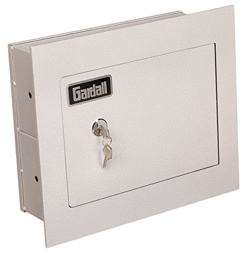 Gardall WS1314-T-K 4'' Concealed Wall Safe with Single Key Lock 4'' Tan