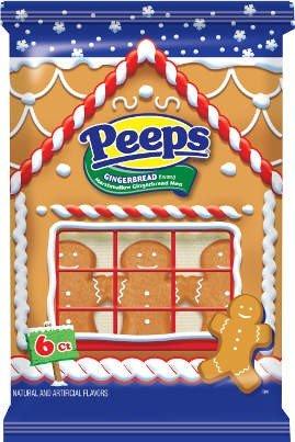 Peeps Marshmallow Gingerbread Men 6pk 24ct