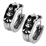 Search : Gothic Skull Hoop Earring Small Stainless Steel Punk Rock huggie Earrings for Men Vintage Jewelry (#1)