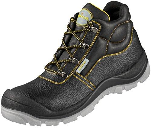Sicherheits-Schnürstiefel Sicherheits-Stiefel VALENTIA ÜK EN ISO 20345 S3 SRA - schwarz, gelb abgesetzt - Größe: 39