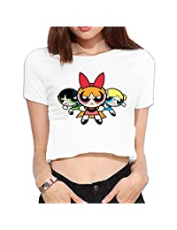 Casual Women's Crop Top American Anime The Powerpuff Girls Poster
