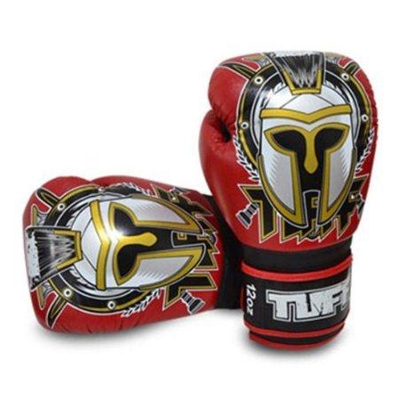 Gladiator Boxing Glove (Tuff Muaythai Boxing Training Gloves Gladiator Red Leather Free Express Ship (14OZ))