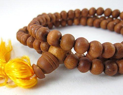 "8MM 108 Pcs Fragrant Black Rosewood Mala Beads Natural Wood Round Beads 35/"""