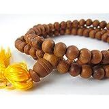 8 毫米正品檀香玛瑙百叶草冥想祈祷珠项链