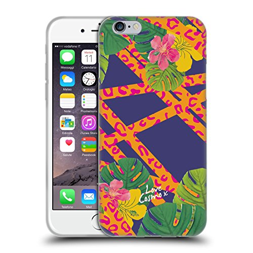 Official Cosmopolitan Leopard Tropical Soft Gel Case for Apple iPhone 6 / 6s
