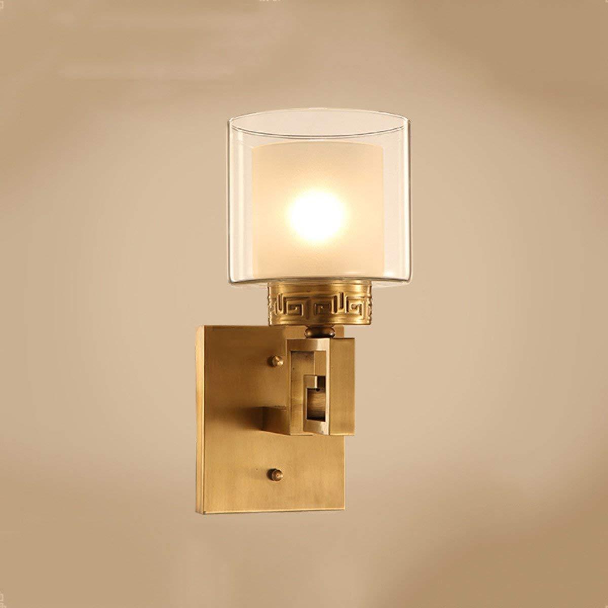TJTJ 完全な銅の古典的な壁ランプの寝室の壁ランプベッドサイドの壁ランプE27光源 (Color : A) B07R8L94FX A