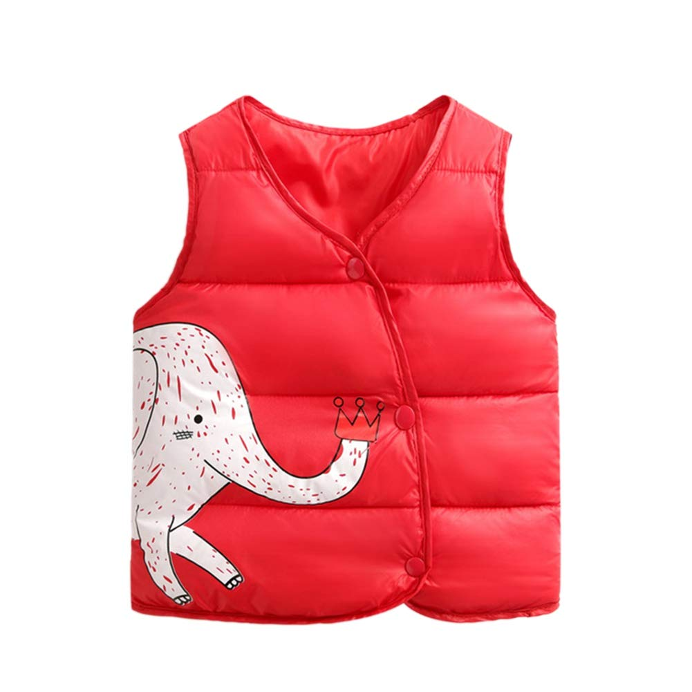 Urmagic Girls Vest Coat, Little Boys Autumn Winter Warm Jacket Kids Button Down Sleeveless Colored Waistcoat Clothes