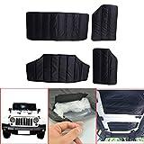 Black Hardtop Sound Deadener Headliner Insulation for Jeep JK Wrangler 4-Door 2011-2017