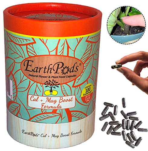 EarthPods Premium Cal Mag Plus Plant Food - Easy Organic Fertilizer Spikes - 100 Capsules - Growth Nutrients (Great on Rose, Tomato, Pepper, Vegetable Garden, Stop Blossom End Rot, Ecofriendly)