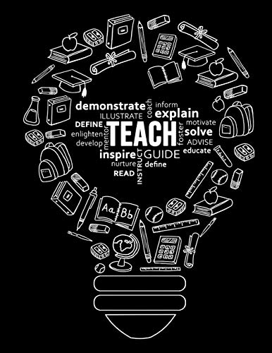 Teacher Planner 2019 - 2020: Weekly and Monthly Lesson Planner for Teachers | Academic Year 2019 - 2020 (September 2019 through August 2020) (8.5x11 - 128 Pages) Teacher Planners R Designer Publishing