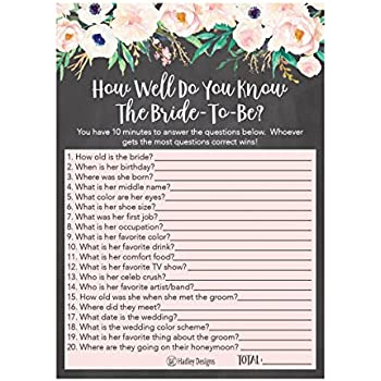 25 floral how well do you know the bride bridal wedding shower or bachelorette party game flowers who knows the best does the groom