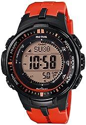 Casio Pro Trek Series Digital Dial Resin Quartz Men's Watch PRW3000-4B