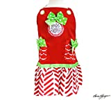 """Christmas Holiday Child's Apron Red, Green, White """"Merry Christmas"""" Message"""