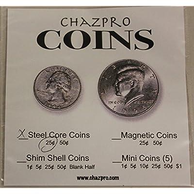 Chazpro Steel Core Quarter Magic Trick: Toys & Games