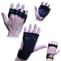 Crossfit/Weightlifting Gloves With Wrist Wraps & Neoprene Hand Grip Pads Bundle Set For Men & Women - Money-Saving 2-in-1 Fitness Bundle for Cross Training, Weightlifting & Gym Workout from Fittest Pro