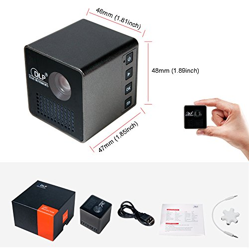 Mini cube dlp led projector ulbre pocket hd video pico for Best hd pico projector