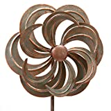 Bits and Pieces Mini Flower Wind Spinner Garden Stake - Small Wind Sculpture