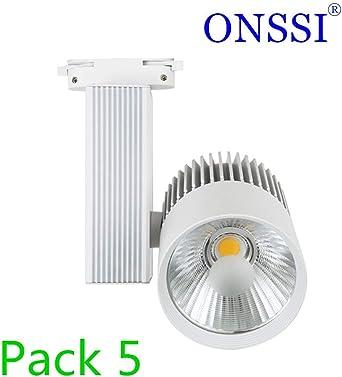 Foco de Carril LED 30W Monofásico G8002 (PACK 5) Cálida 3000k ...