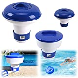 Floating Chlorine Dispenser for 1 Inch Tablets - Chemical Chlorine Tablet Floater Swimming Pool Spas Cleaner Tools (S 5')