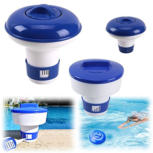 Floating Chlorine Dispenser 3 Inch Tablets Chemical Chlorine Tablet Floater Swimming Pool Spas Cleaner Tools (M 7