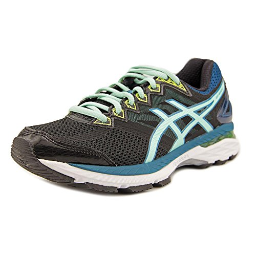 ASICS Women's GT-2000 4 Running Shoe,Black/Pool Blue/Flash Yellow,US 6 D
