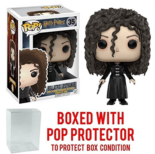 Funko Pop! Movies: Harry Potter - Bellatrix Lestrange #35 Vinyl Figure (Bundled with Pop BOX PROTECTOR CASE)