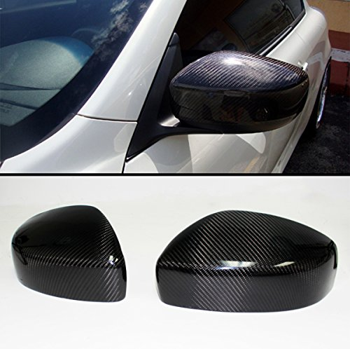 Carbon Fiber Mirror Covers - Cuztom Tuning FITS 2009-2015 Infiniti G25 G37 Q40 Q60 Pair Carbon Fiber Direct ADD-ON Mirror Cover CAPS