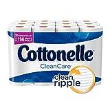Cottonelle CleanCare Family Roll Plus Toilet Paper, Bath Tissue, 36 Toilet Paper Rolls