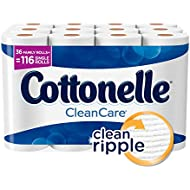 Cottonelle CleanCare Family Roll Toilet Paper (Pack of 36 Rolls), Bath Tissue, Ultra Soft Toilet Paper Rolls with Clean Ripple Texture, Sewer and Septic Safe