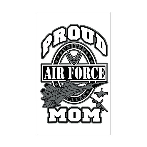 Sticker (Rectangle) Proud Air Force Mom -