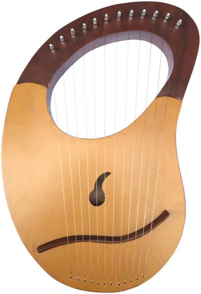 Lyre Arp Sheesham - Estuche de 12 cuerdas de metal + llave: Amazon.es: Instrumentos musicales