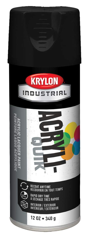Krylon Acryli-Quik Acrylic Lacquer Semi-Flat Black