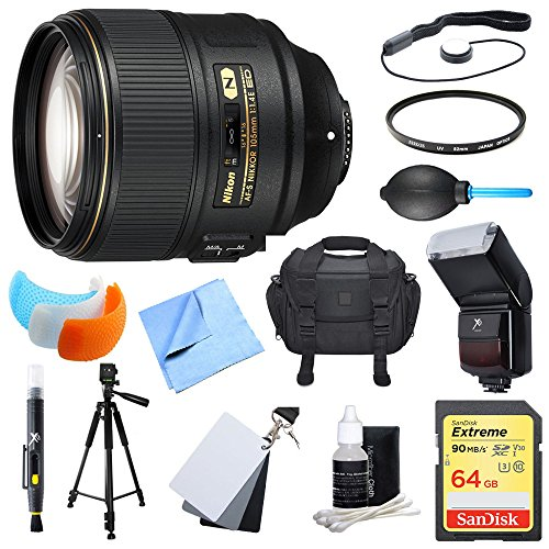 Nikon 85mm f/1.4G AF-S NIKKOR Lens and 64GB Card Bundle - Include Lens and Memory Card by Beach Camera