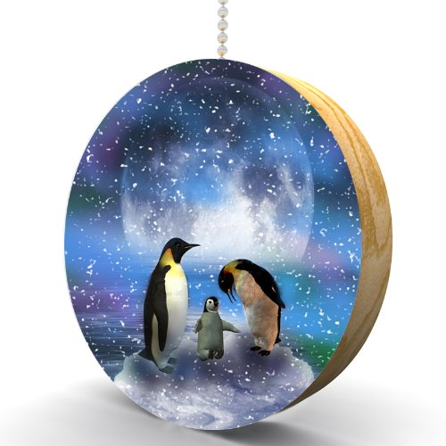 Arctic Penguin Aurora Hardwood Oak Fan/Light Pull