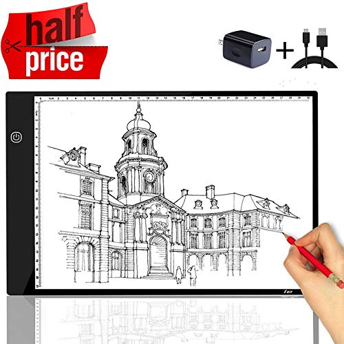 A4 Tracing Light Box Portable LED Light Table Tracer Board Dimmable Brightness Artcraft Light Pad for Artists Drawing 5D DIY Diamond Painting Sketching Tattoo Animation Designing
