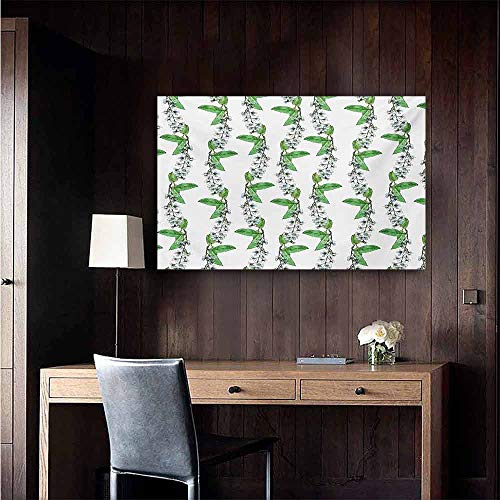 duommhome Leaf Light Luxury American Oil Painting Blossoms of Romantic Spring Flowers of Bird Cherry Tree with Green Swirling Herbs Home and Everything 24