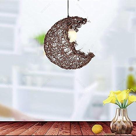 Amazon.com: DIDIDD Lámparas de ratán hechas a mano de ...