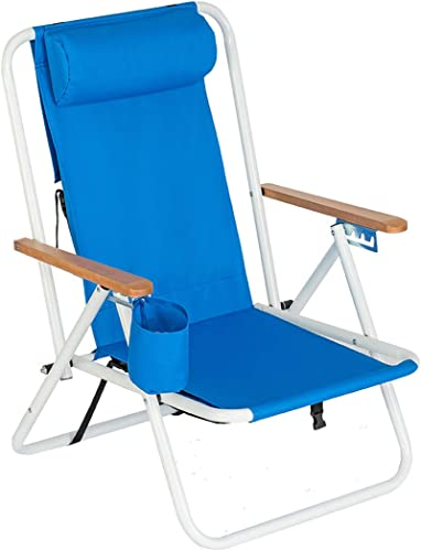 Portable Adjustable Folding Outdoor Lawn Lounge Reclining Chair Recliner